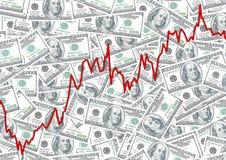 Pila del dinero $100 cuentas de dólar Imagenes de archivo