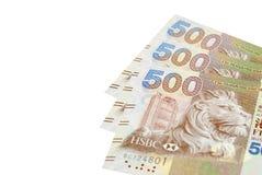 Pila del dinero de Hong-Kong quinientos Fotografía de archivo