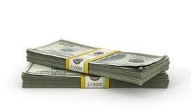 Pila del dinero - en el fondo blanco stock de ilustración