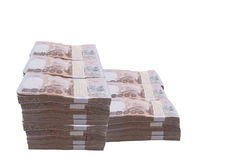 pila del dinero tailandés 1000 del baño: Baño 1000, prohibición de la moneda de Tailandia Imagen de archivo libre de regalías