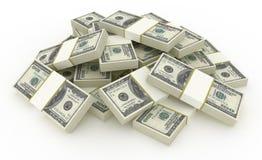 Pila del dollaro Fotografie Stock Libere da Diritti