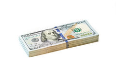 Pila del dollaro Fotografia Stock