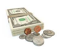 Pila del dollaro Immagine Stock