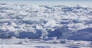 Pila del hielo del glaciar Imágenes de archivo libres de regalías