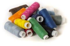 Pila del hilo de coser Fotografía de archivo libre de regalías