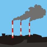 Pila del humo Imagen de archivo libre de regalías