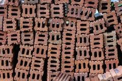 Pila del ladrillo Foto de archivo libre de regalías