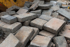 Pila del ladrillo del piso Fotografía de archivo