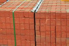 Pila del ladrillo rojo Fotografía de archivo libre de regalías