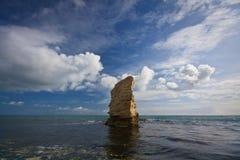Pila del mar, Dorset. Foto de archivo
