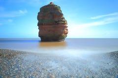 Pila del mar en la bahía de Ladram foto de archivo libre de regalías