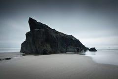 Pila del mar en una playa en Cornualles. Imagenes de archivo