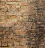 Pila del mattone dei graffiti Fotografie Stock Libere da Diritti