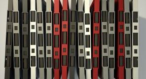 Pila del nastro a cassetta Fotografia Stock