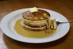 Pila 2 del pancake immagini stock