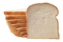 Pila del pane isolata su fondo bianco Fotografia Stock
