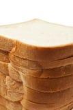 Pila del pane isolata su fondo bianco Fotografie Stock