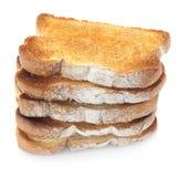 Pila del pane tostato Fotografie Stock Libere da Diritti