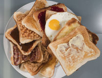 Pila del pane tostato del principale 10 Immagine Stock