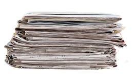 Pila del periódico Fotografía de archivo