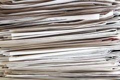 Pila del periódico fotografía de archivo libre de regalías