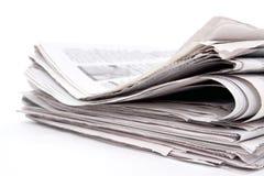 Pila del periódico Foto de archivo libre de regalías
