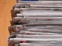 Pila del periódico Imagen de archivo libre de regalías