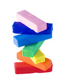 Pila del Plasticine Foto de archivo libre de regalías