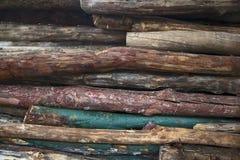 Pila del primo piano di legno immagine stock