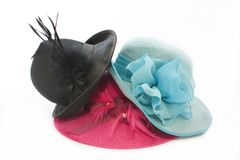 Pila del sombrero de la vendimia fotografía de archivo libre de regalías