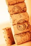 Pila del sughero del vino Fotografia Stock