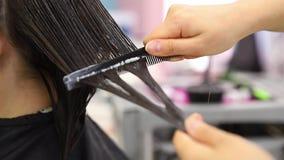 Pila del tratamiento del pelo y de la prote?na de la recuperaci?n de la queratina con la herramienta ultras?nica profesional del  metrajes