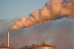 Pila del vapor Imagen de archivo