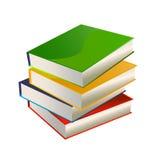 Pila del vector de los libros Imagen de archivo libre de regalías