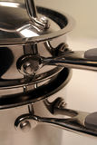 Pila dell'acciaio inossidabile Fotografie Stock