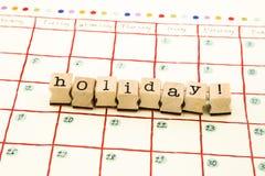 Pila della data della nota di festa sul calendario Fotografie Stock Libere da Diritti