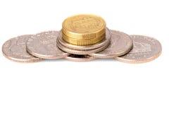 Pila della moneta Fotografia Stock Libera da Diritti