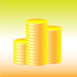 Pila della moneta Fotografia Stock