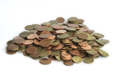 Pila della moneta Fotografie Stock