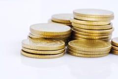 Pila della moneta di oro Immagine Stock Libera da Diritti