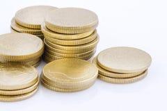 Pila della moneta di oro Immagini Stock