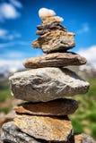 Pila della roccia Immagini Stock