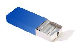 Pila della scatola di graffette del metallo Fotografie Stock Libere da Diritti