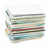 Pila delle cartoline. Immagine Stock Libera da Diritti