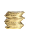 Pila delle monete Fotografia Stock Libera da Diritti