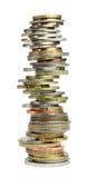 Pila delle monete del mondo Fotografia Stock
