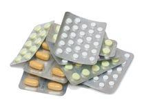 Pila di alcune pillole immagine stock