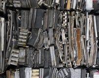 Pila di alluminio dalle parti dell'automobile Fotografia Stock