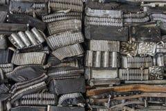 Pila di alluminio dalle parti dell'automobile Fotografia Stock Libera da Diritti