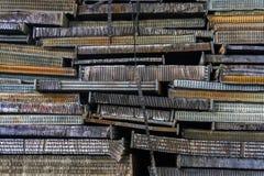Pila di alluminio dalle parti dell'automobile Immagine Stock